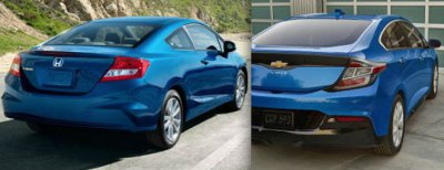 Chevrolet Volt 2016 vs Honda Civic